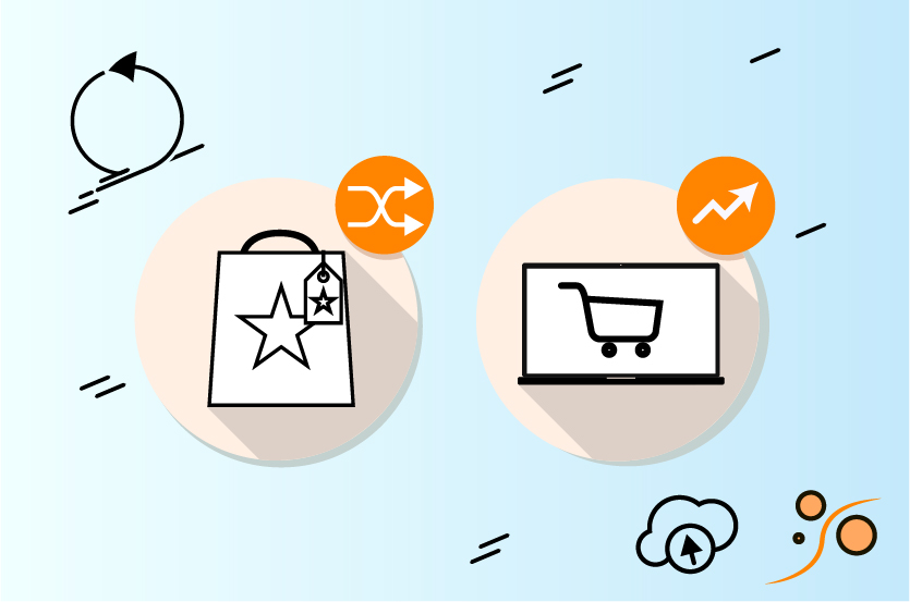 Icons representing a change in consumer habits, and increased e-commerce demand
